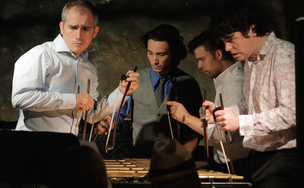 Brian O'Neill quintet Mr. Ho's Orchestrotica bows vibraphone @ Bohemian Caverns in 2014